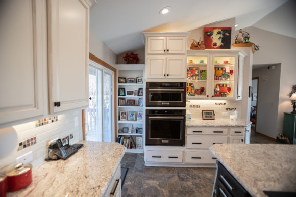 Kitchen remodel with double wall oven