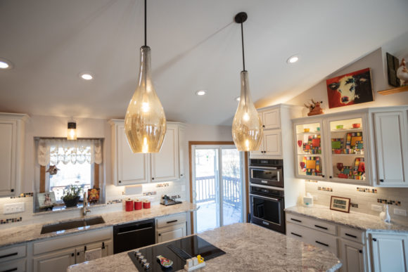Kitchen remodel with large island in Haysville