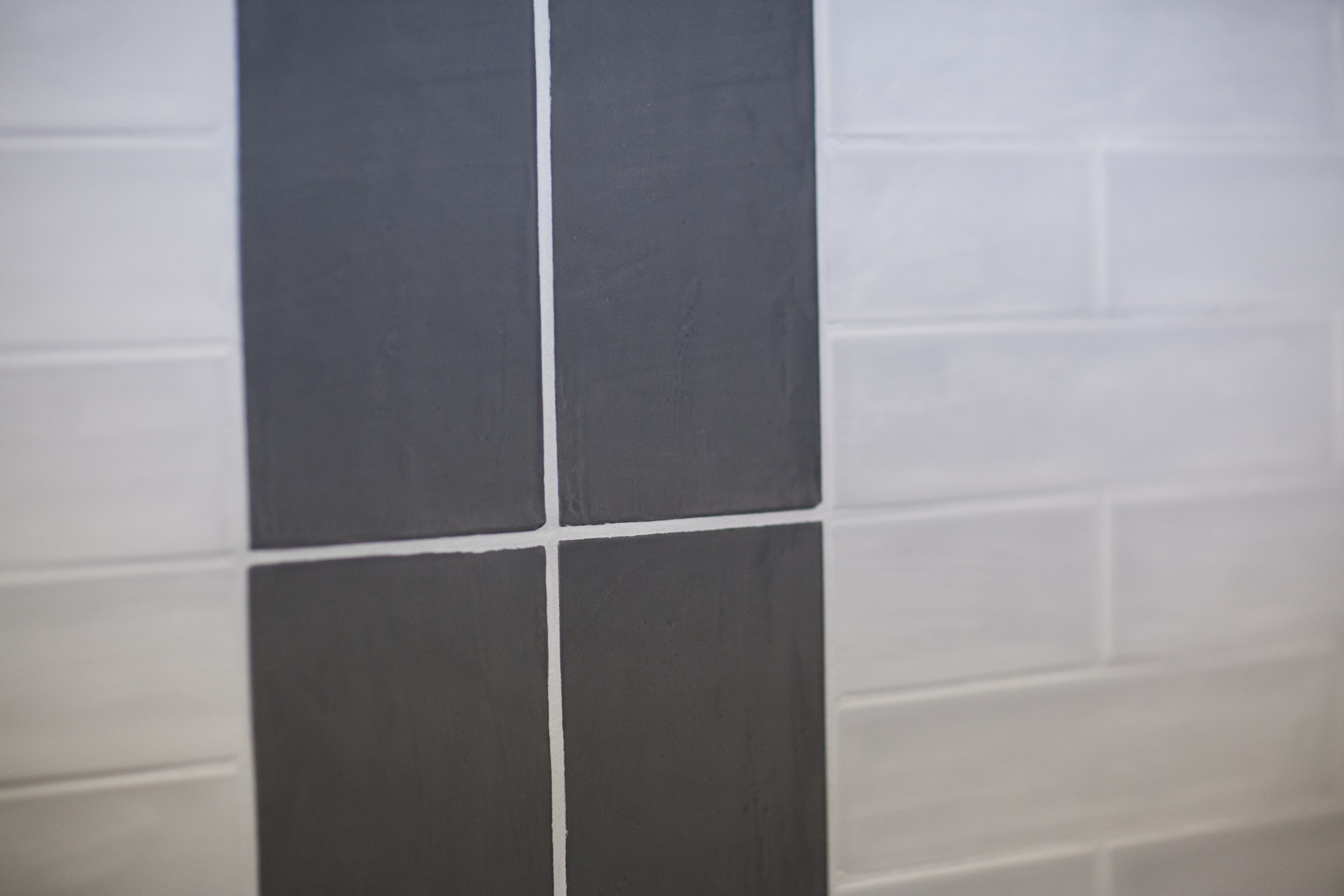 custom tile with accent design