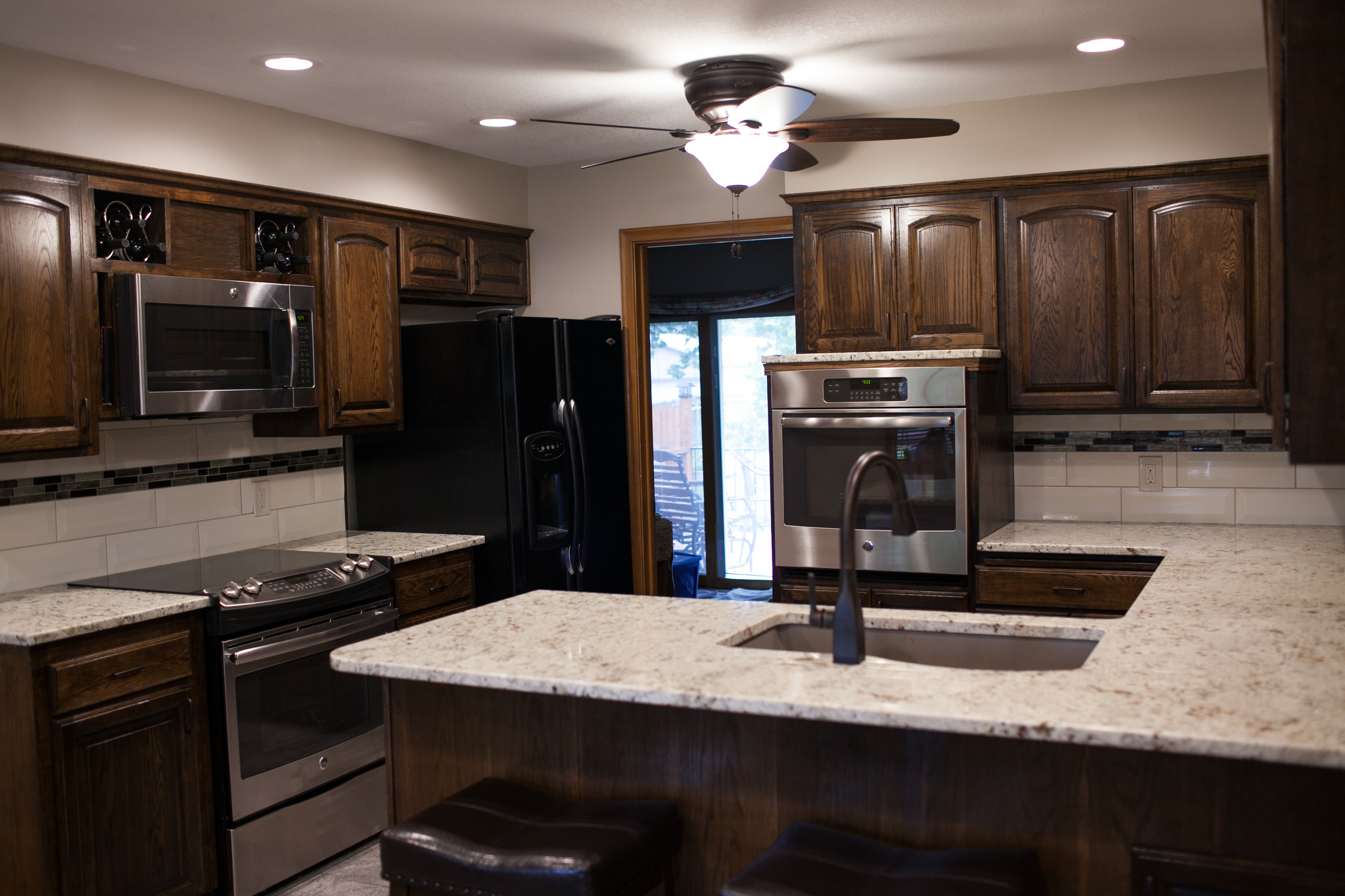 renovated kitchen in bel aire ks pinnacle homes inc