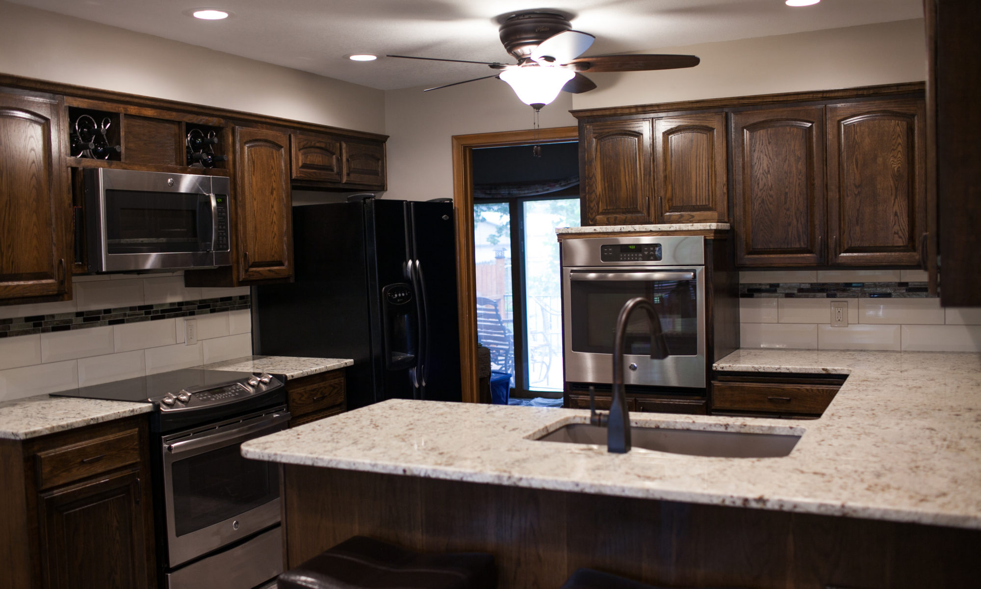 Beau The Kitchen Had Been Pretty Dark So We Added Recessed Lighting With  Dimmable LED Lighting. Now The Homeowners Can Set The Lighting Just How  They Want It.