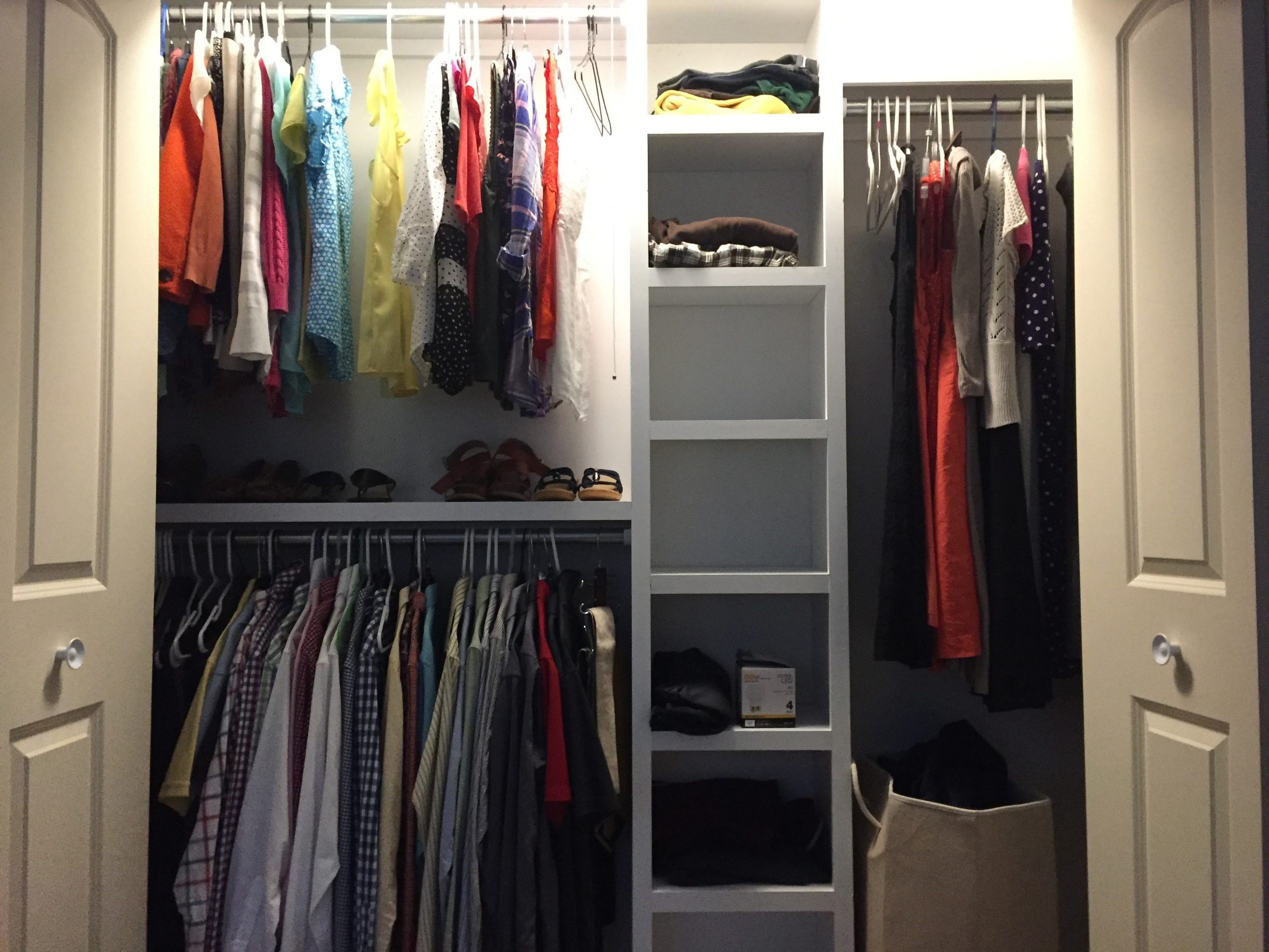 Adding Two Rows Of Hang Up Space Increased The Function Of This Closet.  Then, We Added Cubbies To Increase Space For Sweatshirts And Jeans And  Other Bulky ...
