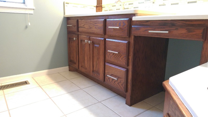 Refinishing Golden Oak Cabinets