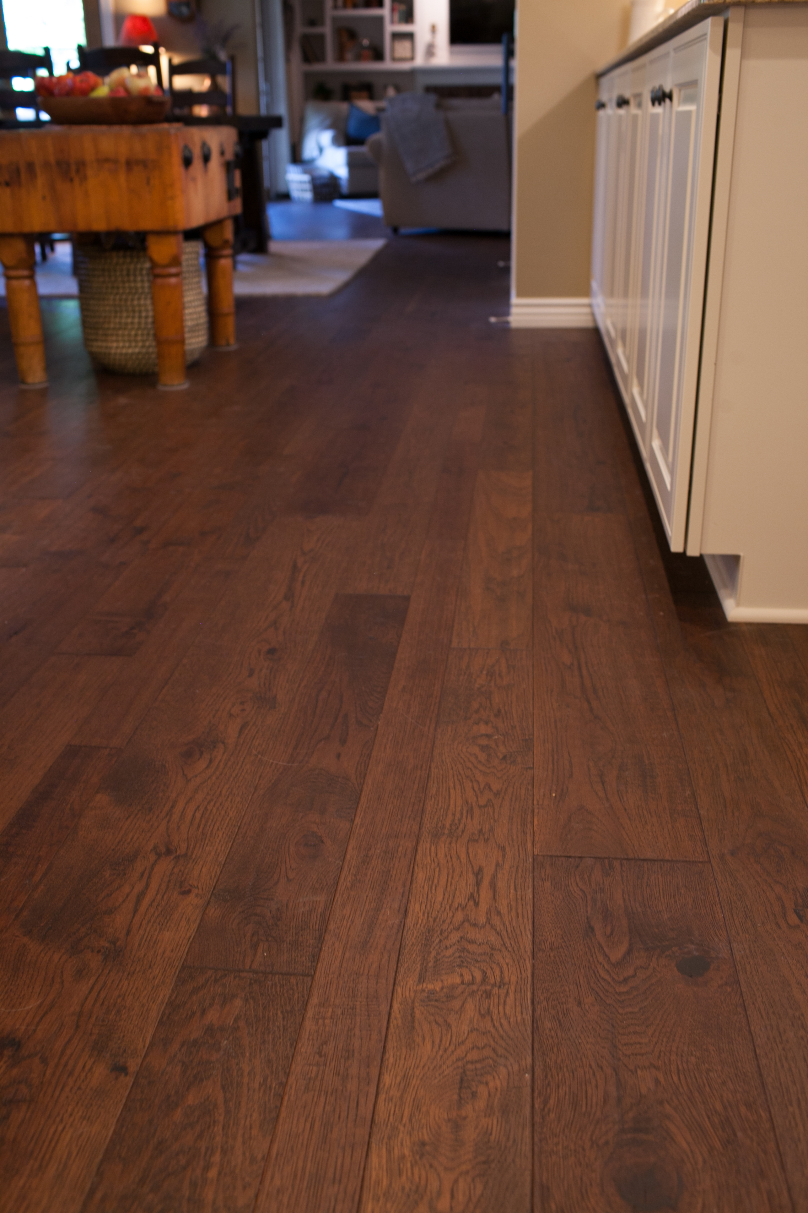 Hickory Flooring for Kitchen Remodel