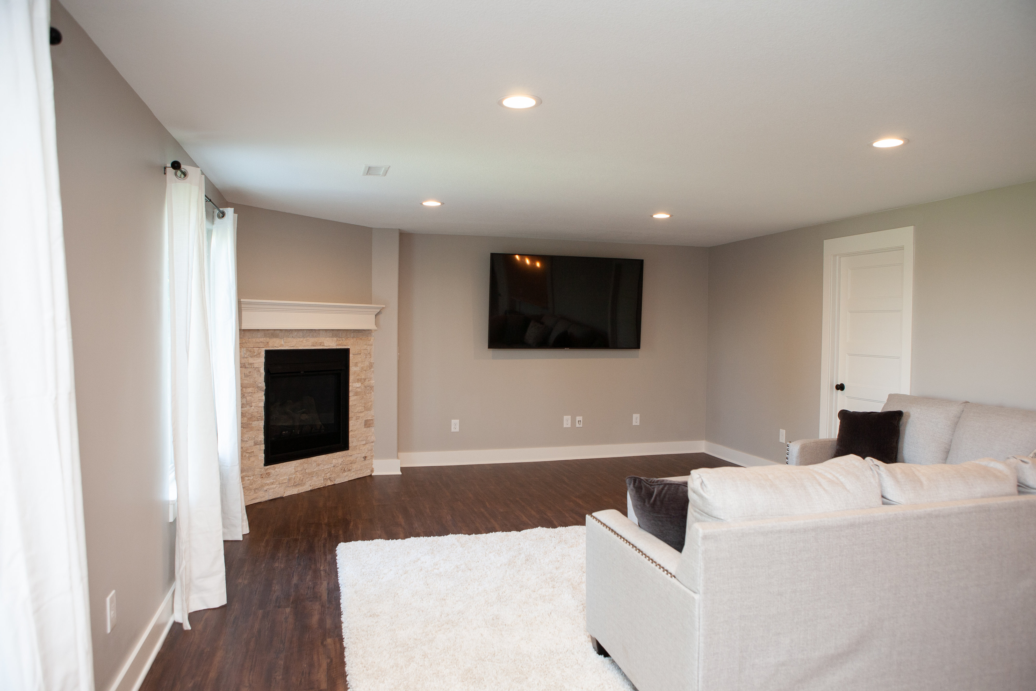Basement Finish: Gas Fireplace