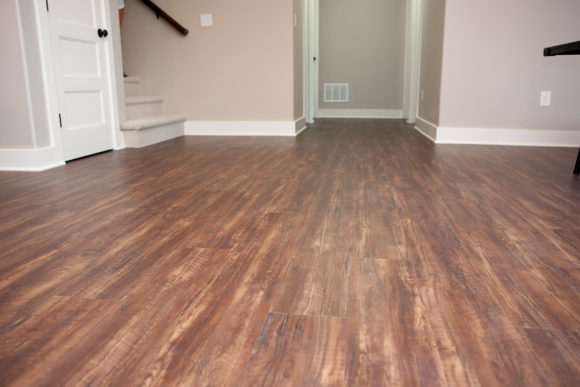Basement Finish near Wichita,, KS: Luxury Vinyl Plank flooring