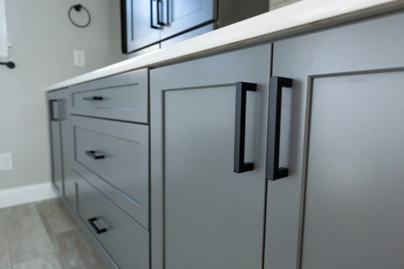 gray painted cabinets Wichita KS
