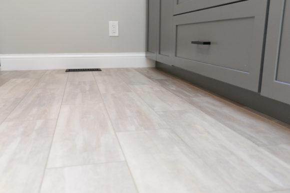 LVP flooring master bath remodel