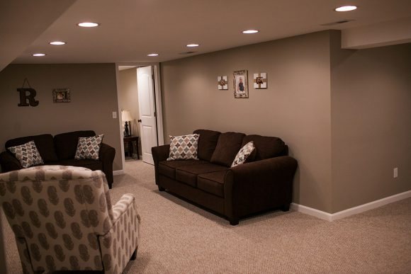 Basement Finish Family Room in Bel Aire KS