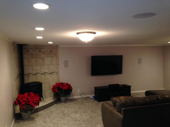 Wichita Basement Finish with Theatre room