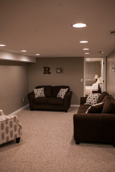 Basement finish in Bel Aire KS