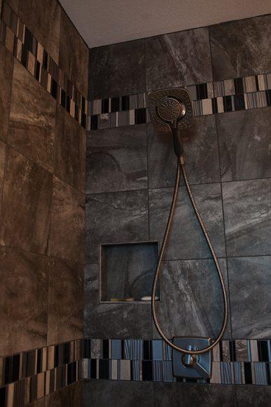 Bathroom Remodel Wichita KS Shower tile detail