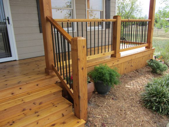 Custom Cedar Deck in Andover KS Fall 2012