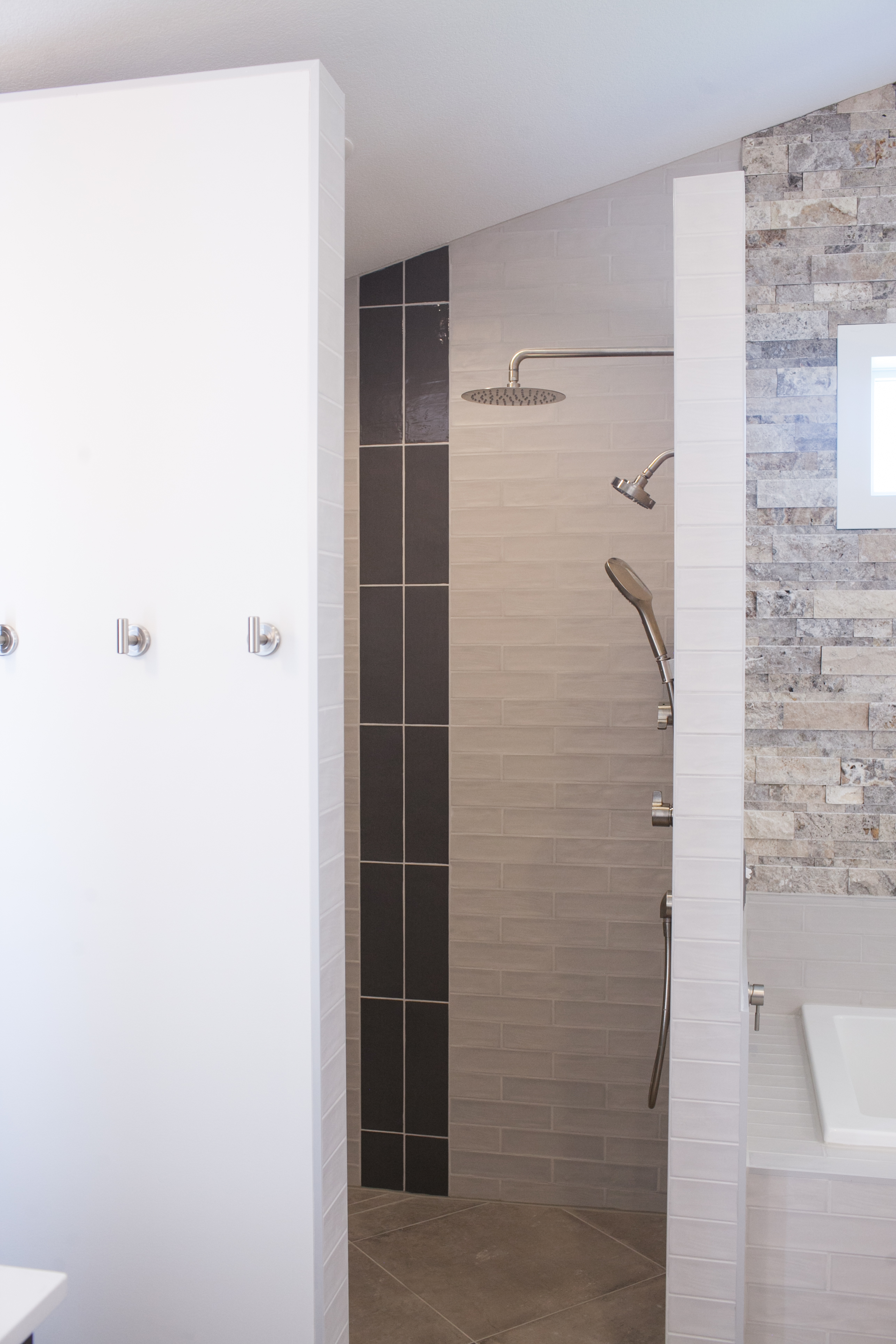 Custom shower for Master bath addition