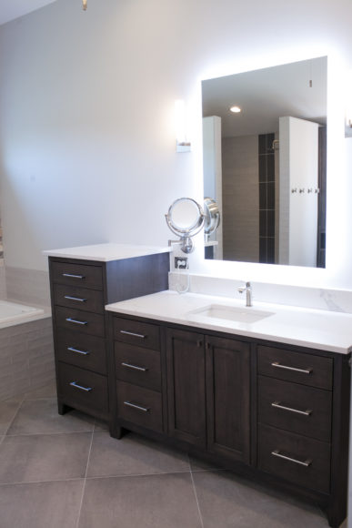 Custom vanities in Master bath addition