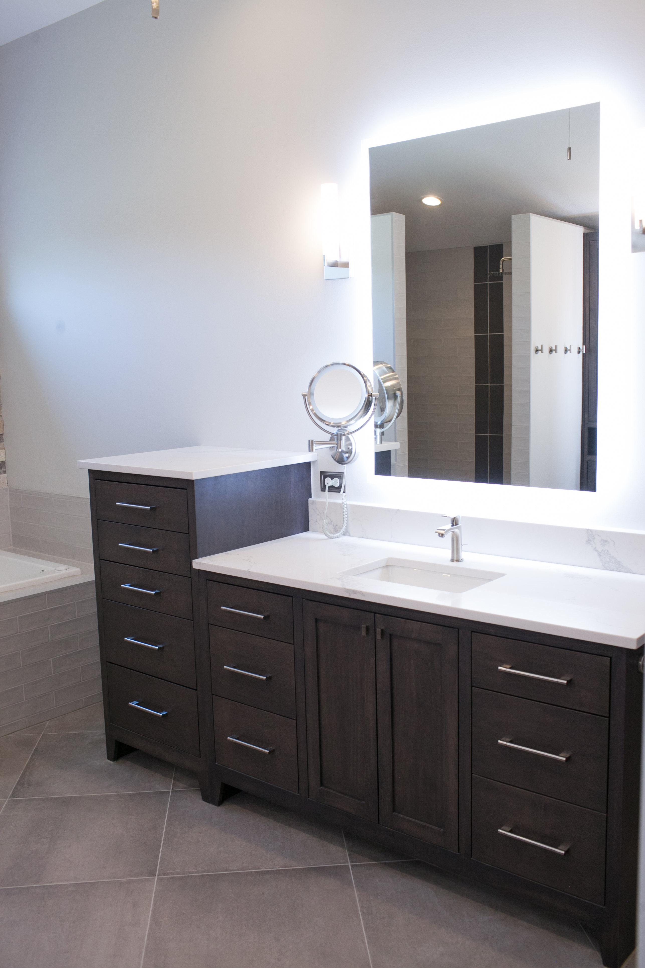 Custom vanities in Master bath addition