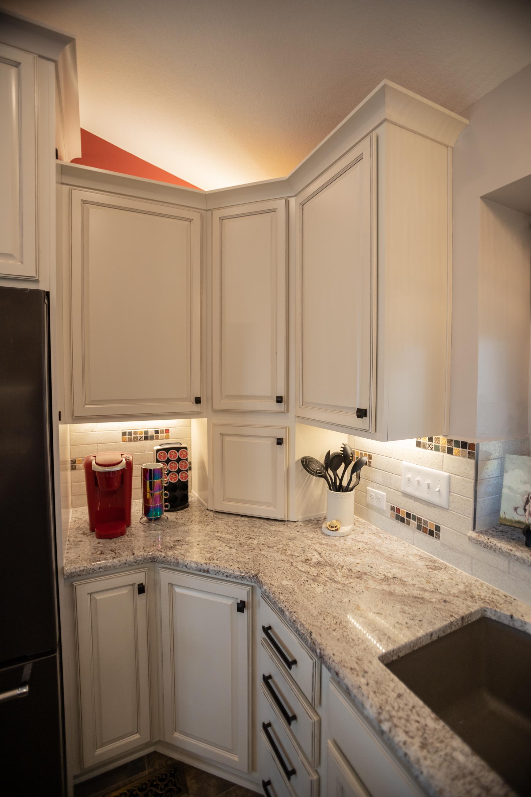 Kitchen Remodel white cabinets Haysville