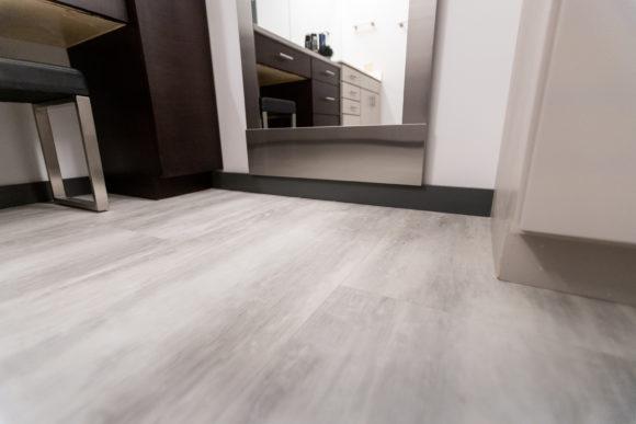 bath remodel Wichita LVT flooring
