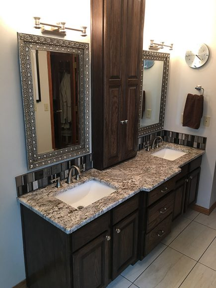 Master Bathroom Remodel Vanity with custom cabinet Summer 2016