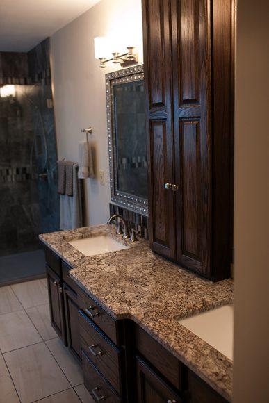 Master Bathroom Remodel Wichita KS vanity refinished