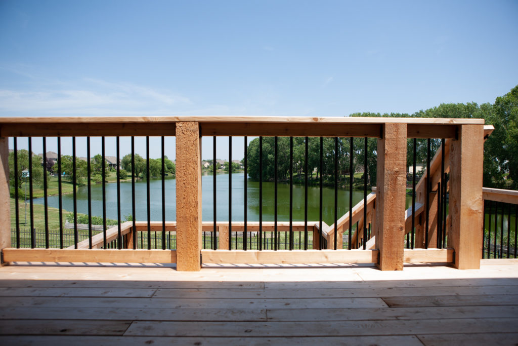 Cedar Deck in Andover, KS overlooking the lake