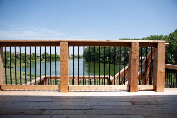 Cedar Deck in Andover, KS overlooking the lake