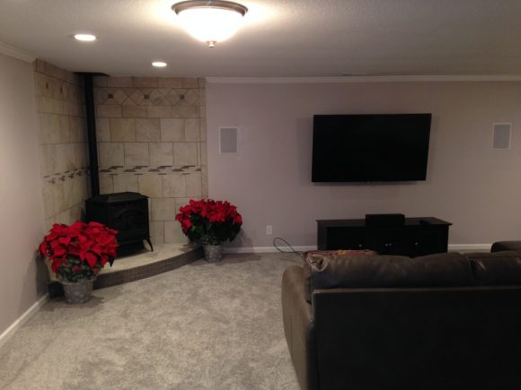 Finished Basement Remodel in Andover, KS