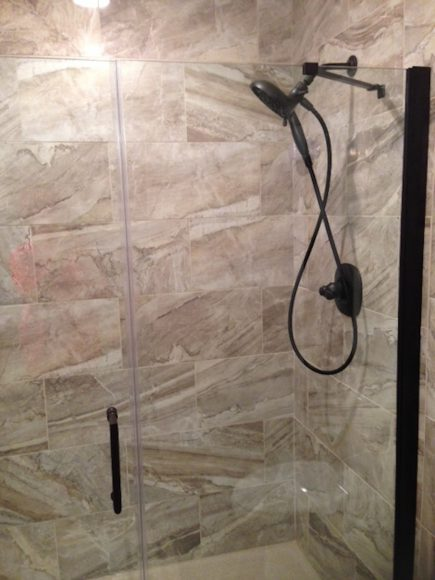 Bathroom remodeling services in Bel Aire - Shower detail