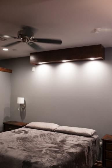 custom lighting master suite