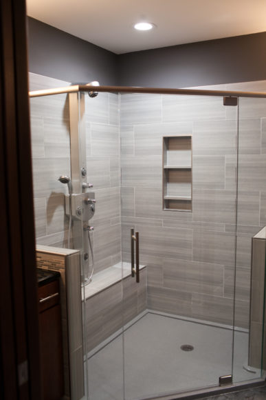 new shower in master suite