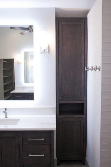 custom vanity and walk-in shower in Wichita, KS