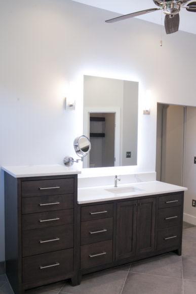 custom vanity in Master bath in East Wichita, KS