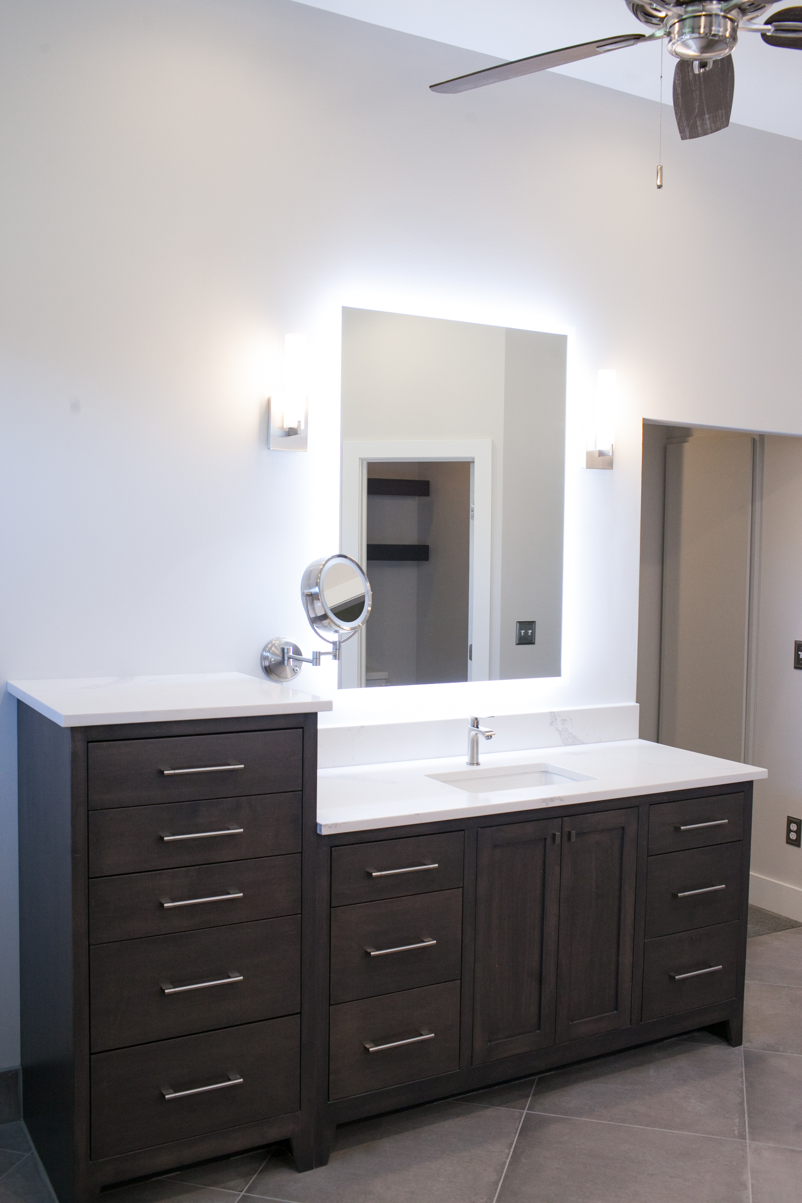 custom vanity in Master bath in East Wichita, KS