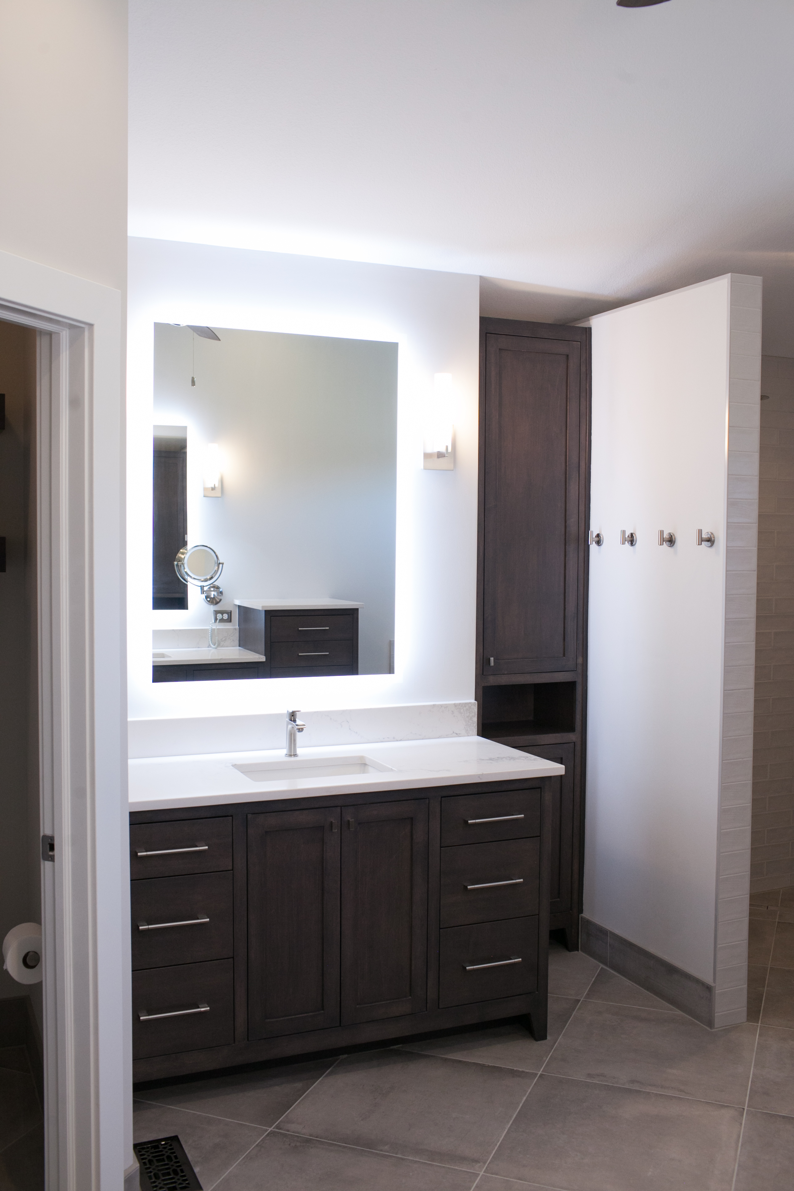 custom vanity in master bath addition in East Wichita, KS