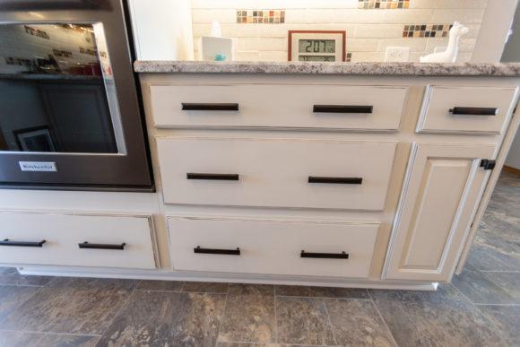custom white cabinetry