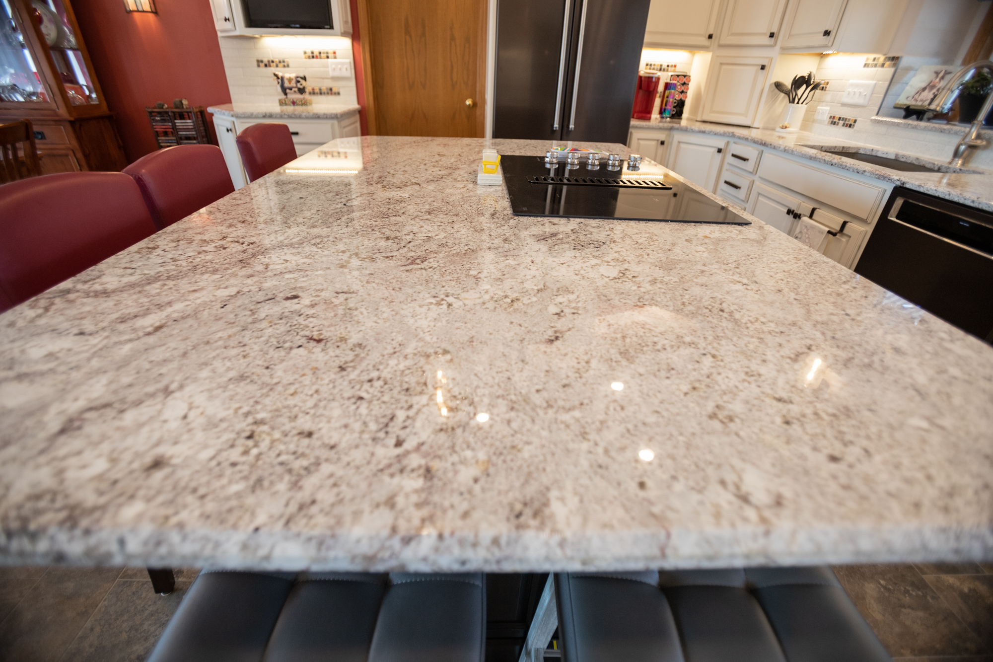 granite island in kitchen reno