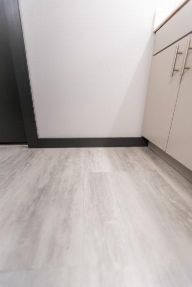 luxury vinyl tile with new trim