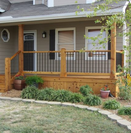 Residential contractor in Wichita, KS - Porch construction