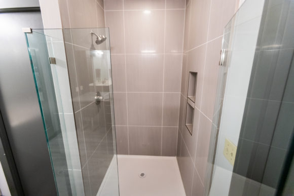 bath remodel Wichita new shower updated and enlarged