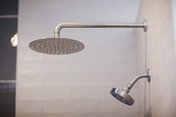 rainhead in custom shower