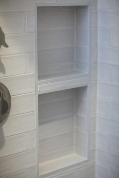 shower niche in custom shower