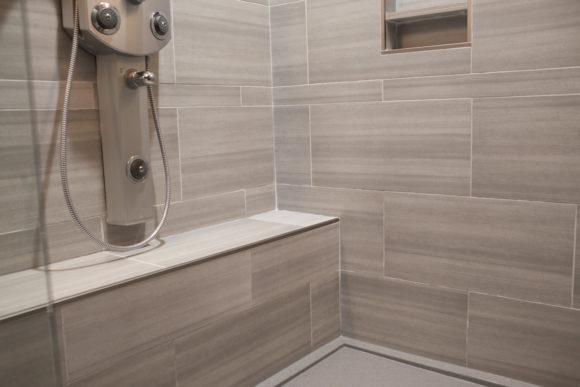 shower seat in master bath