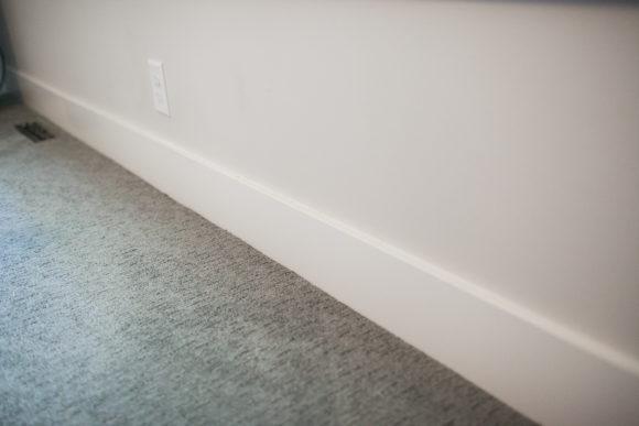 updated trim in master bedroom