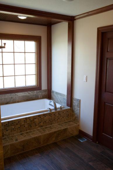 new tub in bathroom remodel Wichita KS