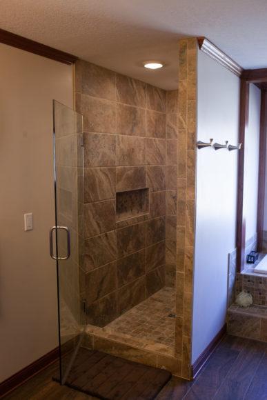 custom walk in shower in Wichita