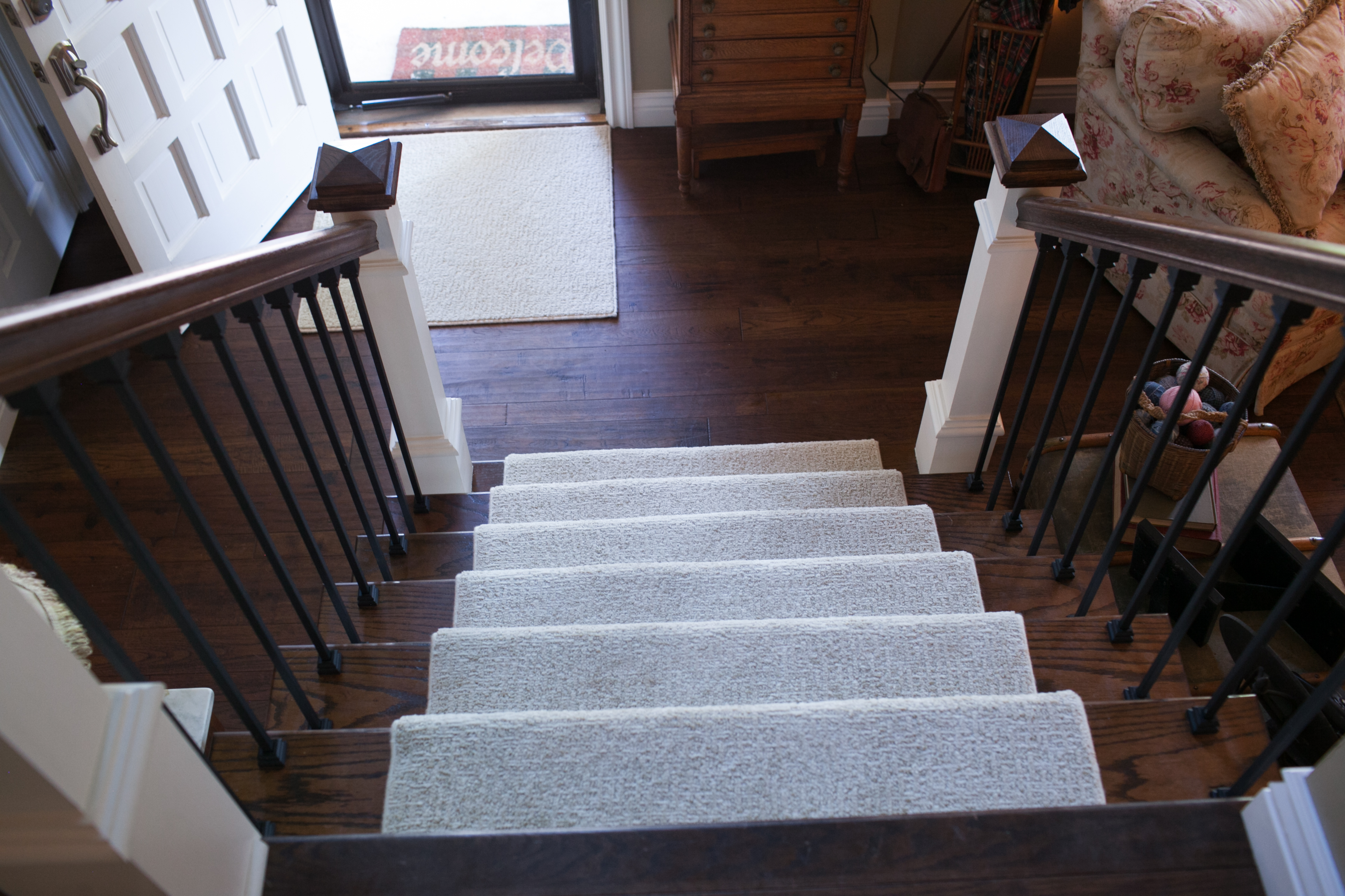 Home Remodel with staircase looking down