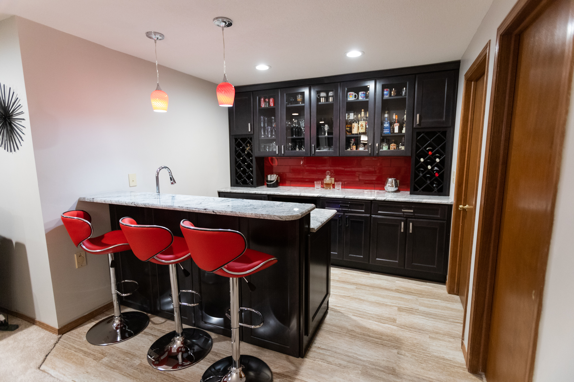basement bar area