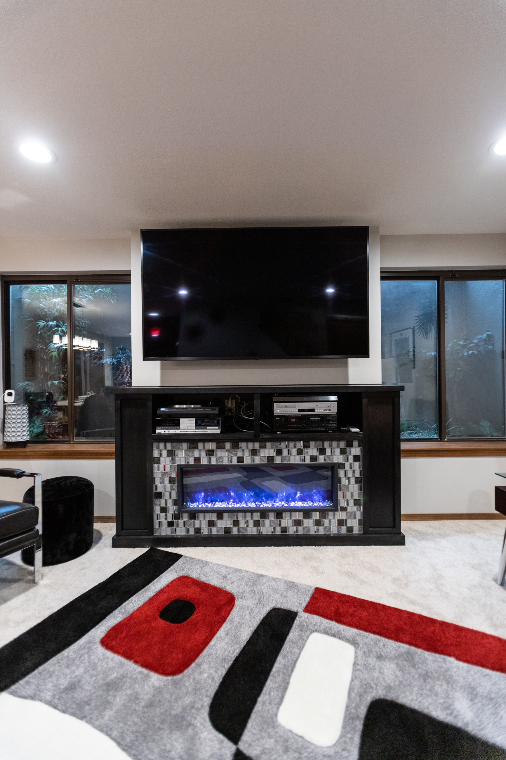 custom electric fireplace