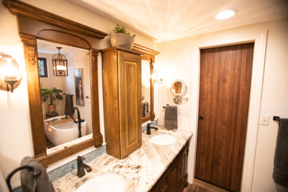 custom cabinetry in master bath